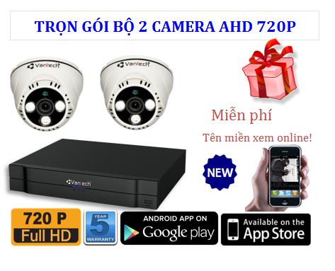 Trọn bộ 2 Camera AHD 720P