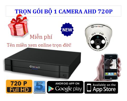 Trọn bộ 1 Camera AHD 720P